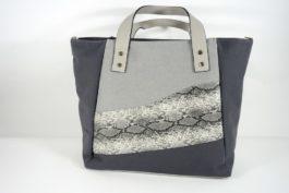Shopper z łączonych tkanin 020