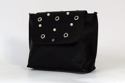 Czarna torebka raportówka