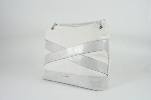 Duża damska torebka paski