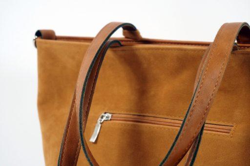 Karmelowy torby damska