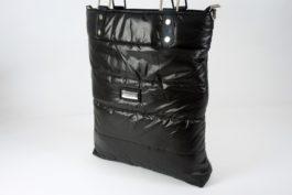 Torba shopper czarna ortalionowa