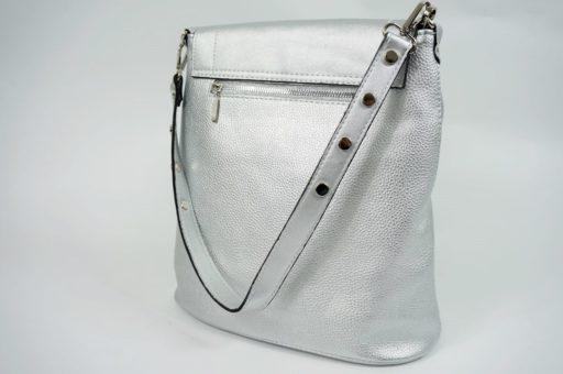 Srebrny torebka listonoszka