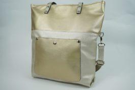 Złota torebka shopper 0003